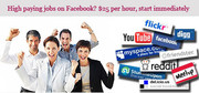 High paying jobs on Facebook? $25 per hour,  start immediately